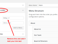 How to Create Menu Items That Don't Link